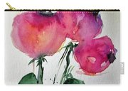 Three Pink Flowers 2 Carry-all Pouch