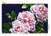 Three Pink Roses With Leaves Carry-all Pouch