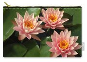 Three Pink Water Lilies Carry-all Pouch