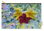 Three Plumeria Flowers Carry-all Pouch