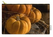 Three Pumpkins On A Bucket Carry-all Pouch