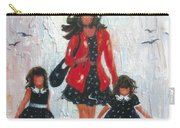 Three Rain Girls Red And Black Carry-all Pouch