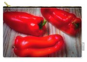 Three Red Bell Peppers Carry-all Pouch