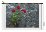 Three Red Mums Poster Carry-all Pouch