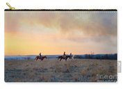 Three Riders In The Kansas Flint Hills Carry-all Pouch