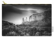 Three Sisters Formation At Monument Valley Carry-all Pouch