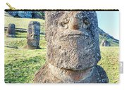 Three Standing Moai Statues Carry-all Pouch