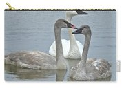 Three Swans Swimming Carry-all Pouch