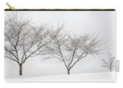 Three Trees In A Snowstorm Carry-all Pouch