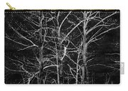 Three Trees In Black And White Carry-all Pouch