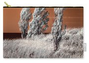 Three Trees  In Infrared On Top Of A Grassy Dune Carry-all Pouch