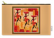 Three Tribal Dancers L B With Alt. Decorative Ornate Printed Frame. Carry-all Pouch