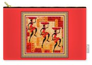 Three Tribal Dancers L B With Decorative Ornate Printed Frame Carry-all Pouch