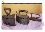 Three Vintage Irons Carry-all Pouch