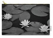 Three Water Lilies  Carry-all Pouch