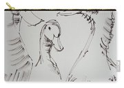 Three White Ducks Drawing Carry-all Pouch