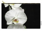 Three White Orchids Carry-all Pouch