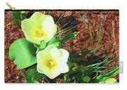 Three White Tulips Painting Carry-all Pouch