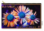 Three Wild Flowers Friendship Carry-all Pouch