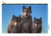 Three Wolves Watching You Carry-all Pouch