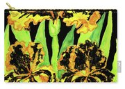 Three Yellow-black Irises, Painting Carry-all Pouch