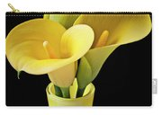 Three Yellow Calla Lilies Carry-all Pouch