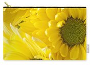 Three Yellow Daisies  Carry-all Pouch by Garry Gay