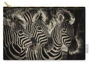 Three Zebra Carry-all Pouch