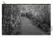 Through The Forest Canopy Black And White Carry-all Pouch
