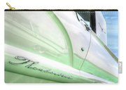 Thunderbird Abstract In Mint And White Carry-all Pouch