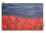 Thunderstorm Over The Poppy Field Carry-all Pouch