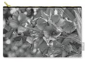 Tibouchina In Black And White Carry-all Pouch