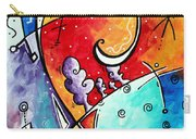 Tickle My Fancy Original Whimsical Painting Carry-all Pouch by Megan Duncanson
