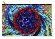 Tie Dyed Om Swirl Carry-all Pouch