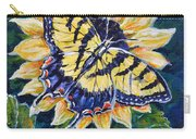 Tiger And Sunflower Carry-all Pouch