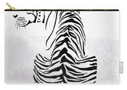 Tiger Animal Decorative Black And White Poster 4 - By  Diana Van Carry-all Pouch