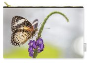 Tiger Butterfly Perched On A Flower Carry-all Pouch