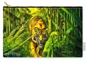 Tiger In The Forest Carry-all Pouch