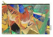 Tiger In The Jungle By Franz Marc Red And Yellow Tiger On The Prowl Carry-all Pouch