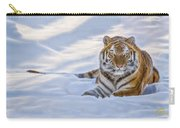 Tiger In The Snow Carry-all Pouch