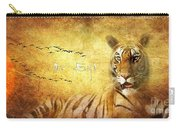 Tiger In The Sun Carry-all Pouch