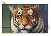 Tiger In Trouble Carry-all Pouch by James W Johnson