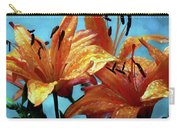 Tiger Lilies After The Rain - Painted Carry-all Pouch