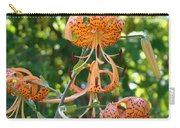 Tiger Lilies Art Prints Canvas Summer Tiger Lily Flowers Carry-all Pouch
