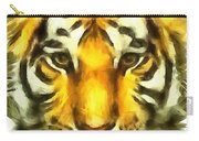 Tiger Painted Carry-all Pouch