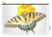 Tiger Swallowtail Butterfly, Cosmos Flower Carry-all Pouch