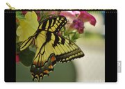 Tiger Swallowtail Butterfly On Begonia Bloom         June            Indiana Carry-all Pouch