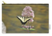 Tiger Swallowtail Butterfly On Common Milkweed 1 Carry-all Pouch