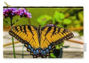 Tiger Swallowtail Butterfly By Fence Carry-all Pouch