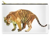 Tiger White Background Carry-all Pouch